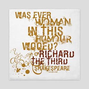 Shakespeare Richard III Quote Queen Duvet