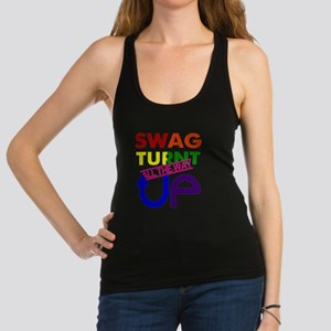 Swag Turnt Up Rainbow Racerback Tank Top