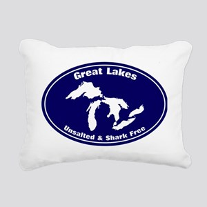 GREAT LAKES SHARK FREE Rectangular Canvas Pillow