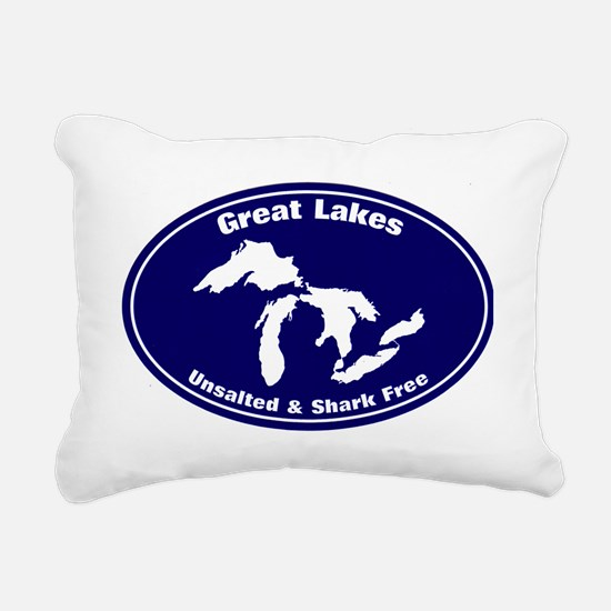 GREAT LAKES SHARK FREE Rectangular Canvas Pillow