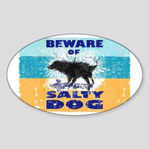 Salty Dog Magnet Sticker (Oval)