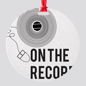 On the Record Round Ornament