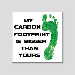"my carbon footprint Square Sticker 3"" x 3"""