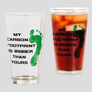 my carbon footprint Drinking Glass