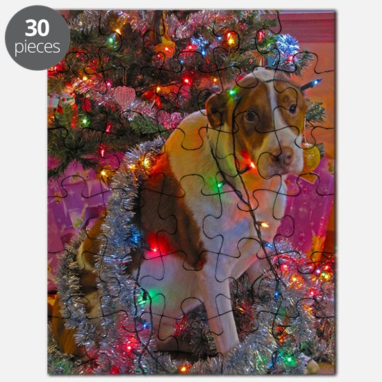 Merry Christmas Mixed Breed Puzzle