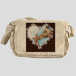 Giraffe  Calf Snowflake Heart Throw  Messenger Bag