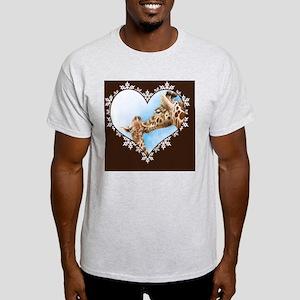 Giraffe  Calf Snowflake Heart Throw  Light T-Shirt