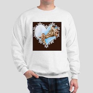 Giraffe  Calf Snowflake Heart Throw Pil Sweatshirt