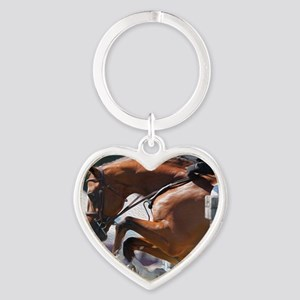 Over Fences D1389-013 Heart Keychain