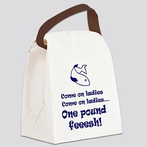 One pound fish Canvas Lunch Bag