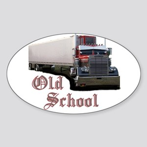 Old School Oval Sticker
