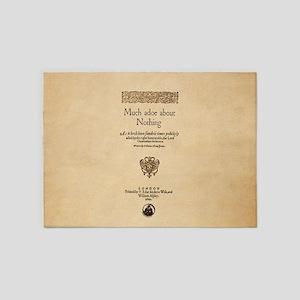 Folio-MuchAdoAboutNothing-men 5'x7'Area Rug