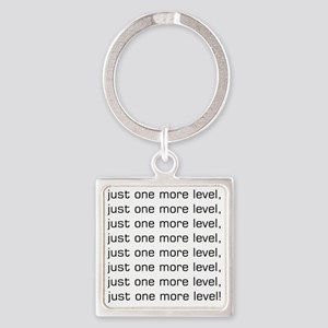 One More Level Tee Square Keychain