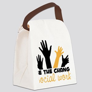BeThe Change Canvas Lunch Bag