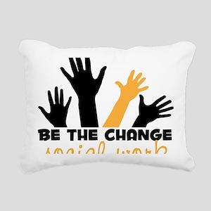 BeThe Change Rectangular Canvas Pillow