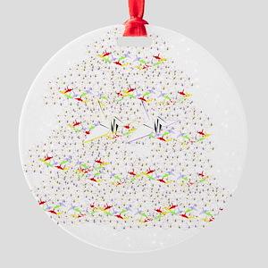 1000 Paper Cranes Round Ornament