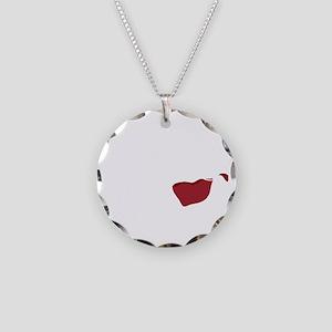 I Dont Spit,,,wht Necklace Circle Charm