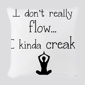 Flow or creak? Woven Throw Pillow