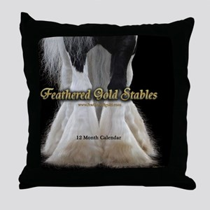 2013 Feathered Gold Gypsy Horse Calen Throw Pillow