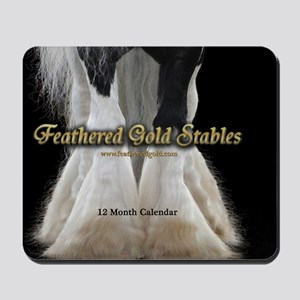 2013 Feathered Gold Gypsy Horse Calendar Mousepad