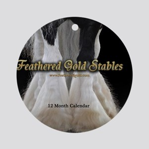 2013 Feathered Gold Gypsy Horse Cal Round Ornament
