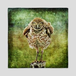 Burrowing Owl Queen Duvet