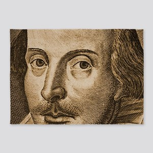 Shakespeare Droeshout Engraving 5'x7'Area Rug