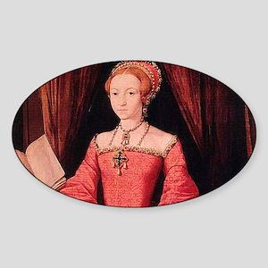 Elizabeth I Sticker (Oval)