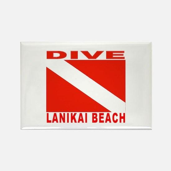 Dive Lanikai Beach, Hawaii Rectangle Magnet