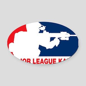 Major League Kafir Oval Car Magnet