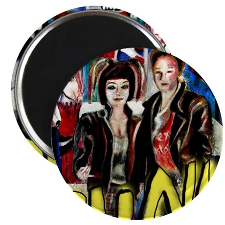 pop art painting of alternative fashion fig Magnet