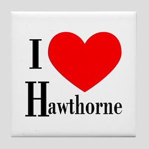 I Love Hawthorne Tile Coaster