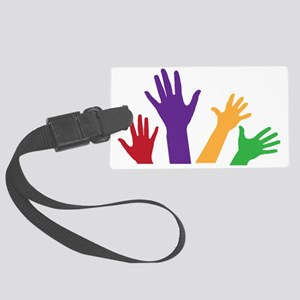 Hands Large Luggage Tag
