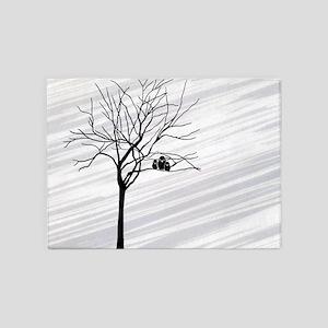 t-shirt men_826_H_F_Winter Tree2 5'x7'Area Rug