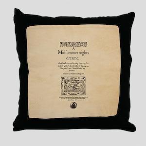 Folio-MidsummerNightsDream-men Throw Pillow