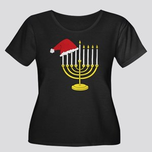 Hanukkah Women's Plus Size Dark Scoop Neck T-Shirt
