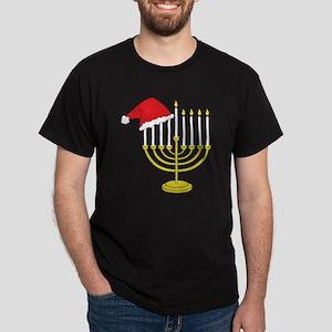 Hanukkah And Christmas Dark T-Shirt