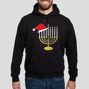 Hanukkah And Christmas Hoodie (dark)