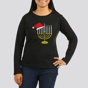 Hanukkah And Chri Women's Long Sleeve Dark T-Shirt