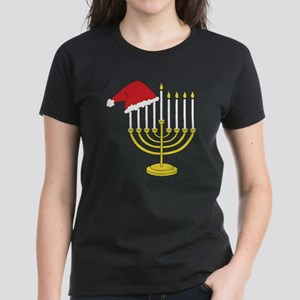 Hanukkah And Christmas Women's Dark T-Shirt