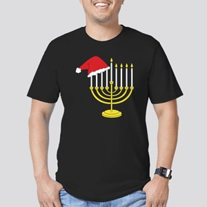 Hanukkah And Christmas Men's Fitted T-Shirt (dark)