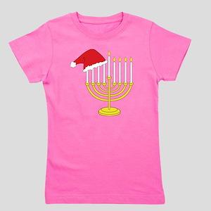 Hanukkah And Christmas Girl's Tee