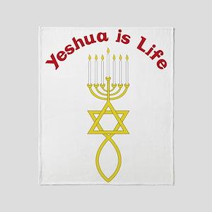 Yeshua Is Life Throw Blanket
