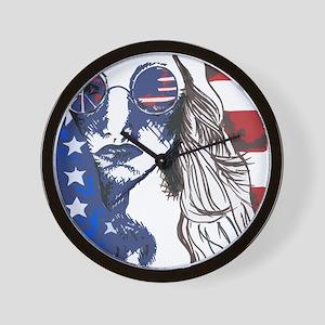 American Peace Seeker Wall Clock