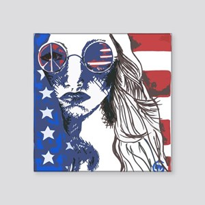 "American Peace Seeker Square Sticker 3"" x 3"""