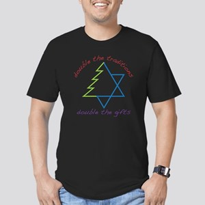 Double The Tradititons Men's Fitted T-Shirt (dark)