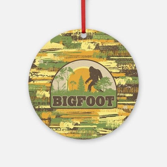 Bigfoot Round Ornament