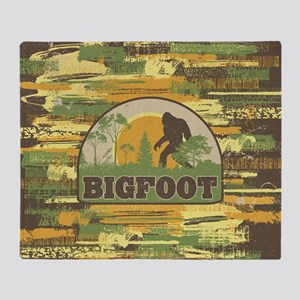 Bigfoot Throw Blanket