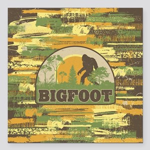 "Bigfoot Square Car Magnet 3"" x 3"""