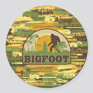 Bigfoot Round Car Magnet